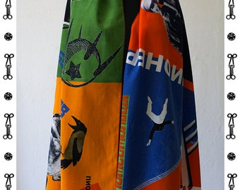 PIONEER Scarf, Silk, Cotton, Communism, Scarves, Shawls, Wraps, digital print, Soviet Union, workers posters, propaganda, 1920s to 1940s