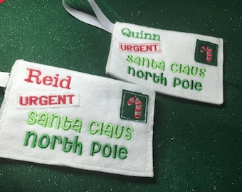 Personalized Letters to Santa .. Envelope for those Christmas requests