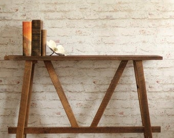 rustic console table u2013 narrow sofa table u2013 reclaimed wood buffet u2013 small footprint furniture u2013 - Narrow Sofa Table