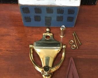 Brass Door Knocker With Peep Hole 4 Still Available Solid Brass Door Knocker  All Brass Brass
