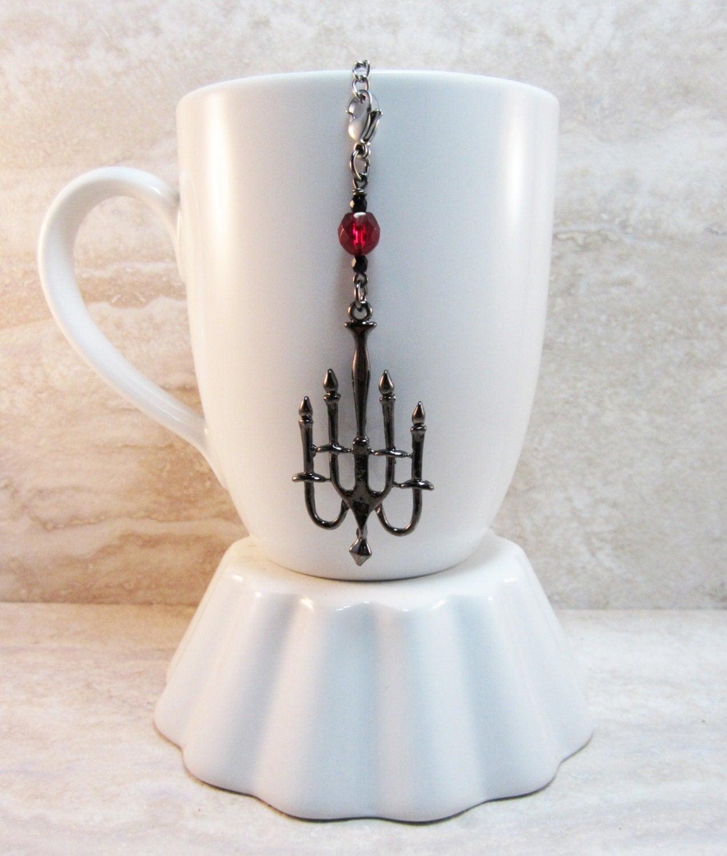 haunted mansion tea infuser charm gunmetal finish