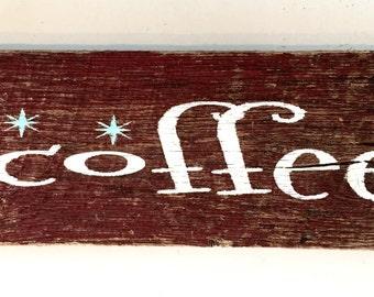 Coffee Bar Barnwood Sign