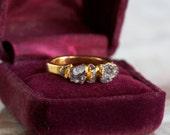 druzy ring / amethyst stacking ring / amethyst ring / dainty ring / gemstone ring / druzy jewelry / crystal rings / druzy stone ring / boho