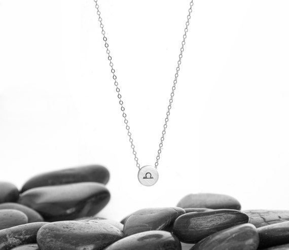 Libra Necklace, Libra Jewelry, Libra, Zodiac Necklace, Zodiac Jewelry, Constellation, Zodiac Sign Necklace, Libra Pendant, Zodiac Sign, n245