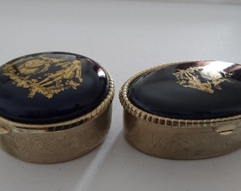 Two vintage pill boxes