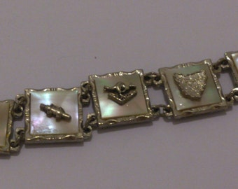 vintage mother of pearl Australian tourist bracelet by Sphinx