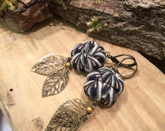 Earrings plum blossoms