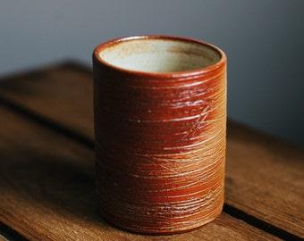 Orange Soda Fired Cup