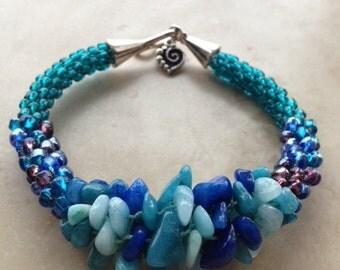 Blues Fantasy Kumihimo Bracelet