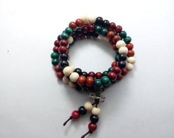 1 x  8 mm   sandalwood  buddhist beads. Malla prayer beads  108  wood beads