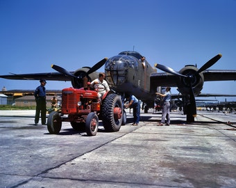 October 1942. Kansas City, Kansas. B-25 bomber plane , Photo