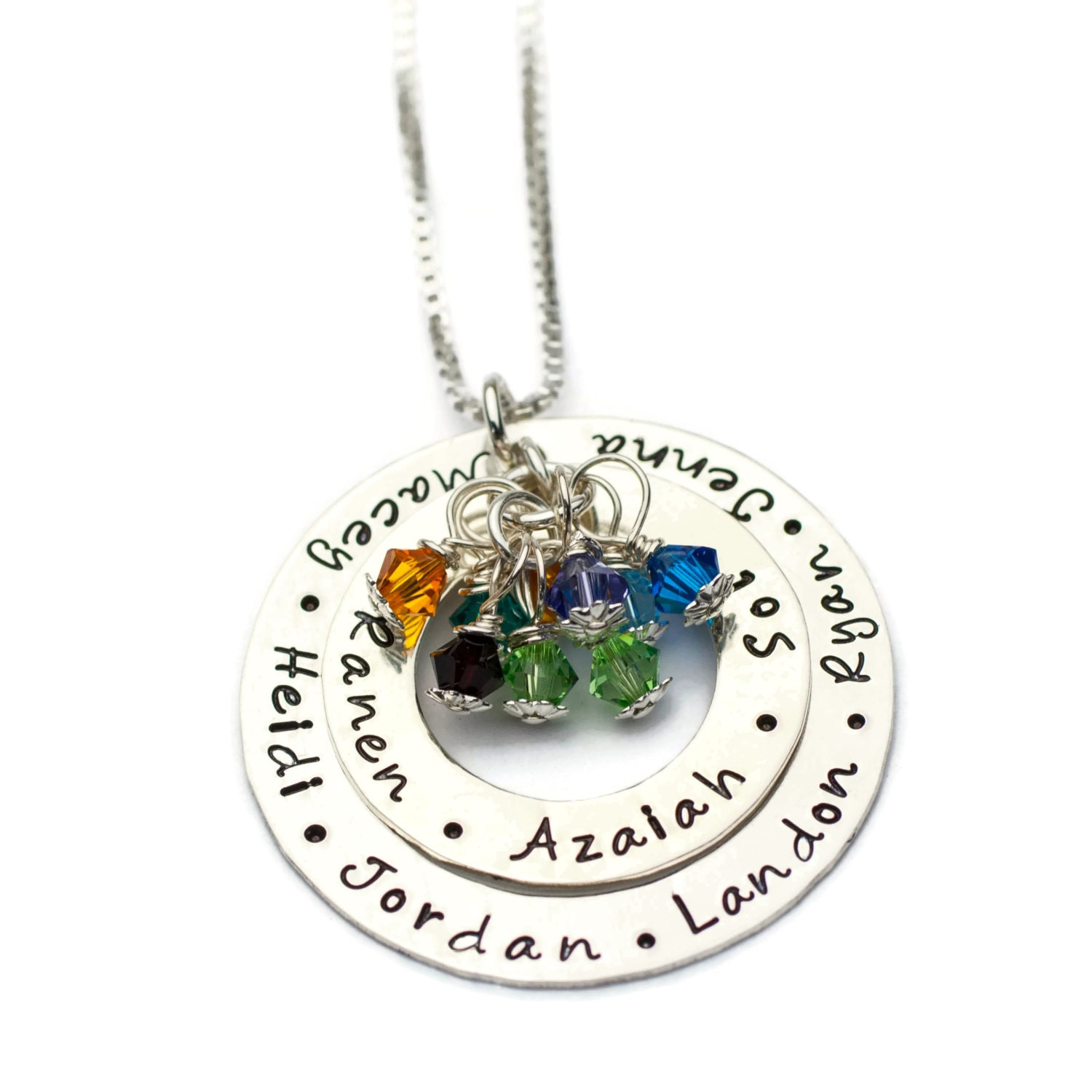 Grandmothers necklace grandma necklace custom grandma for Grandmother jewelry you can add to
