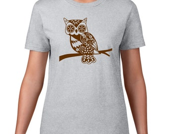 Owl TShirt, Whimsical Owl T Shirt, Forest Animal Tshirt, Cute Owl Tee, Woodland Critter, Graphic Tee
