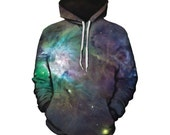 Psychedelic Space Hoodie - Festival Clothing - Sublimation Print - EDM Clothes - GratefullyDyed