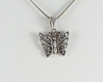 Pendant Sterling Silver Butterfly Pendant