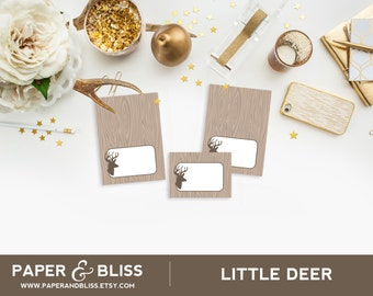 PRINTABLE Little Deer - Tent Cards - Place Cards