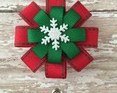 Christmas Snowflake Retractable Badge Holder - Nurse Badge Holder - Retractable Badge Reel - Nurse ID Badge Clip- ID Badge Holder Nurse Gift