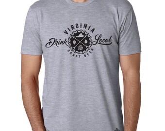 Craft Beer Shirt- Drink Local Virginia t-shirt