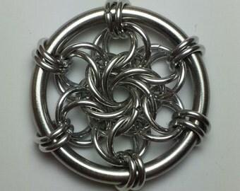 Moorish Rose Chainmaille Pendant