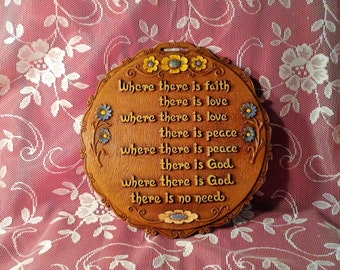 Vintage Multi Products Wall Plaque - Where there is Faith, There is Love...