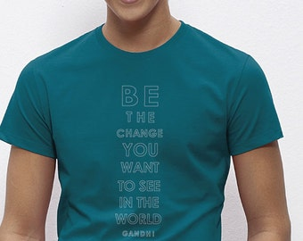 Be the change organic cotton t shirt by ecoLoco designer