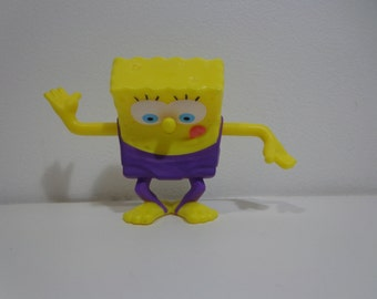 Spongebob Squarepants Collectible Cake Topper Fast Food Toy Figure for Baking Decoration, Deco Upcycle Crafts