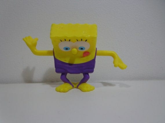 Spongebob Squarepants Collectible Cake Topper Fast Food Toy