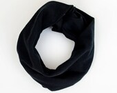 Baby infinity scarf, New baby gift, Black jersey scarf with snaps, Baby cowl, Toddler fashion scarf, Black scarf for baby, Soft baby scarf