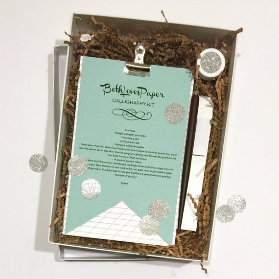 Beginner 39 S Calligraphy Kit By Bethlovespaper On Etsy