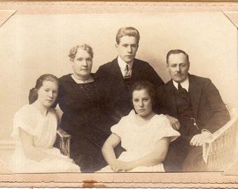 Antique Photo of Gloomy Family
