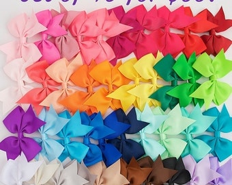 Girls bows, 3.5 inch hair bows, Cheap bows, bow clips, little girl bows, bow set, lot of bows, baby bows, dollar bows, bows