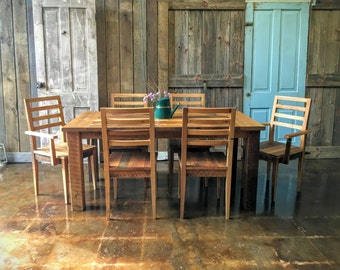 Farmhouse Dining Table and Chairs Set, Dining Room Set