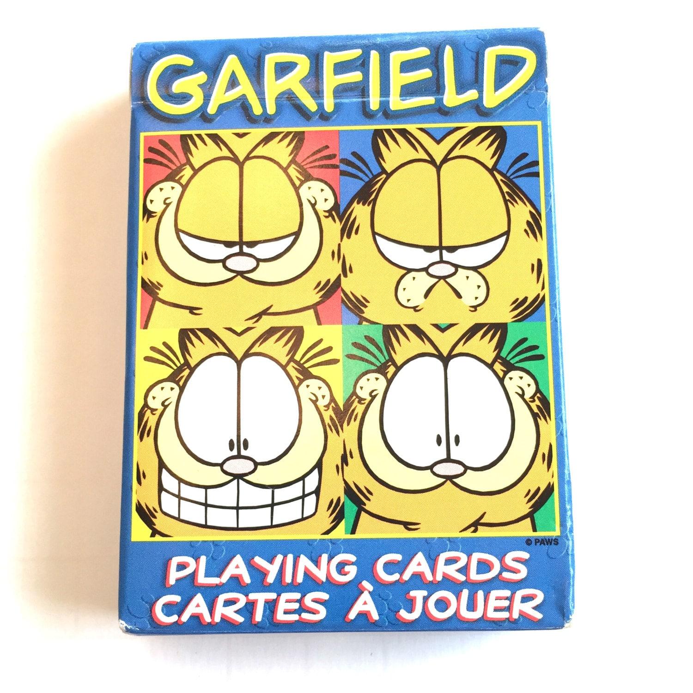 Cartas de juego de Garfield Jim Davis la baraja gato de Garfield