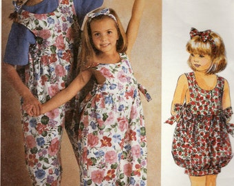 Easy McCall's 5894 Sewing Pattern, Girl's Jumpsuit in Two Lengths and Headband, Multi-Size 7, 8, 10, Used Vintage Pattern