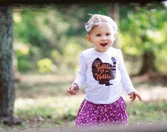 Thanksgiving Shirt, Turkey shirt, Thanksgiving outfit, Baby girl Thanksgiving outfit, Girls turkey shirt, Girls thanksgiving shirt