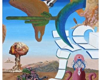 Original Art Print, Modern Art Print, Psychedelic Artwork, Trippy Painting