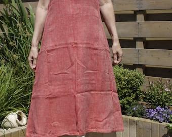 Linen overdress