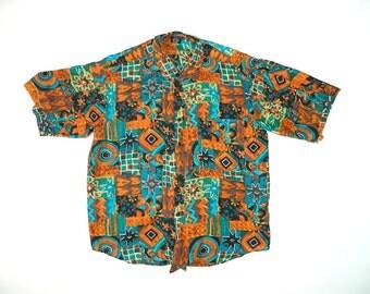 Vintage Abstract Silk Shirt