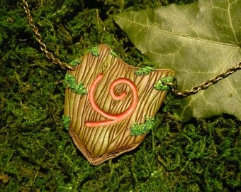 Deku Shield - Legend of Zelda: Ocarina of Time - handmade Pendant