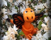 Dragon-fly friend, Butterfly Dragon, orange dragon with wings