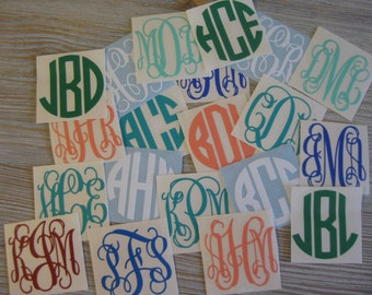 Monogram Decal - Monogram Car Decal - Decal Sale - Monogram Decal Sale - 99 Cent Decal Sale - Car Decal - Monogram