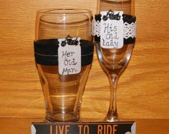Attractive Motorcycle Wedding | Etsy