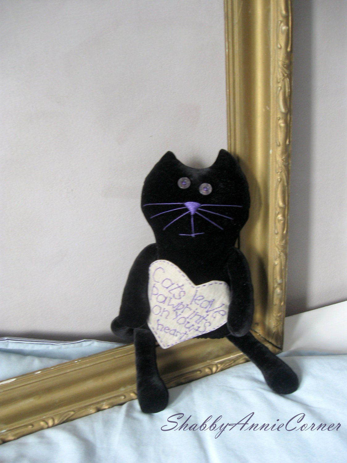 black cat home decor cat lover gift stuffed by