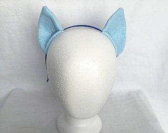 Light Blue My Little Pony Ears, Costume Ears, Cosplay Ears Headband, Rainbow dash ears rainbow dash costume my little pony ears