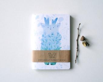 Blossom tukoni sketchbook A6 Deer notebook Deer stationary Animal sketchbook notebook Forest stationary Cute deer Forestspirit notepad