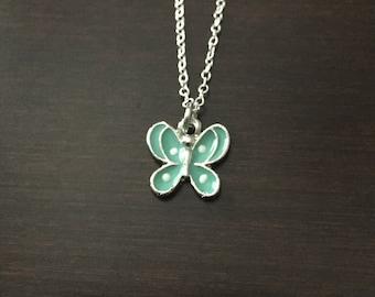 butterfly necklace, butterfly, butterfly jewelry, butterfly pendant, children necklace, childrens jewelry, turquoise necklace, turquoise
