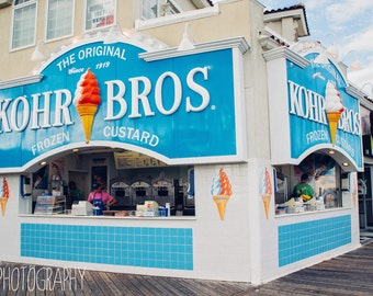 Kohr Bros (beach, ocean city, new jersey, boardwalk, ice cream)