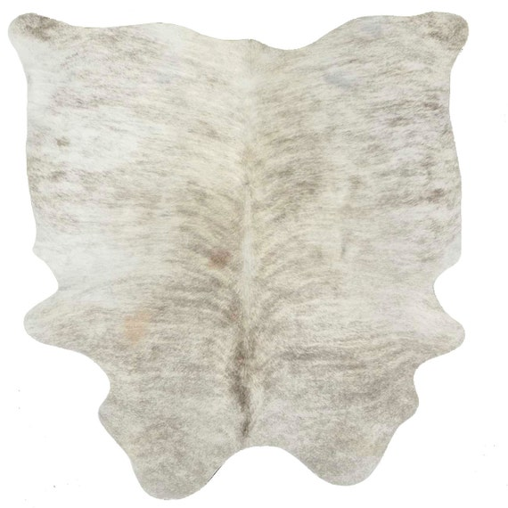 Cowhide Rug Cow Hide Leather Grey Gray White