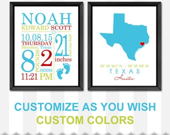personalized baby gifts, new baby announcement, baby stats wall art, birth stats print, new baby boy gift, baby boy nursery, birth print