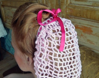 Vintage hair snood retro rockabilly made to order 1940s pattern